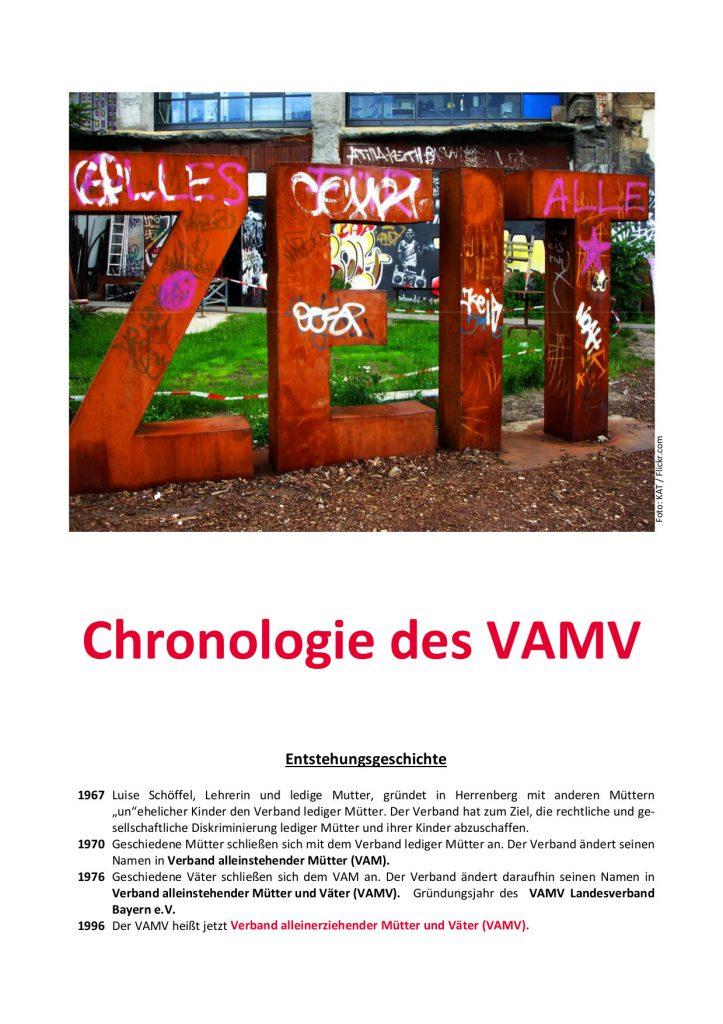 Cover VAMV Chronologie
