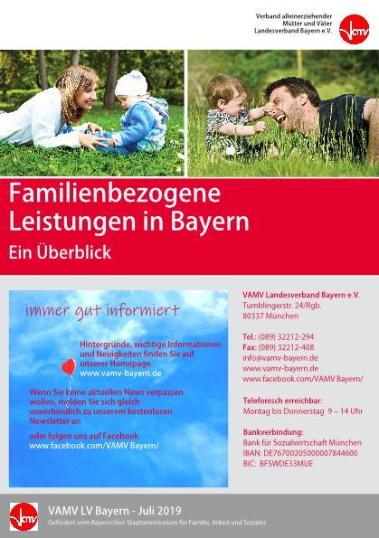 Neues Faltblatt: Familienbezogene Leistungen in Bayern
