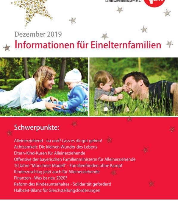 Informationen für Einelternfamilien – Dezemberausgabe!