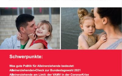 """#VAMV: jetzt neu – unsere """"Informationen für Einelternfamilien"""" – Ausgabe 1/2021"""